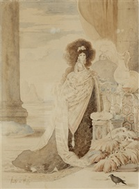 la prêtresse au corbeau by adolfo de herrera