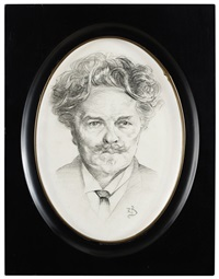 porträtt av august strindberg by richard (sven r.) bergh