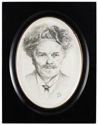 porträtt av august strindberg by richard (sven r.) bergh