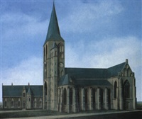 kerk te workum by barend blankert