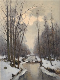 winter landscape by pieter de regt