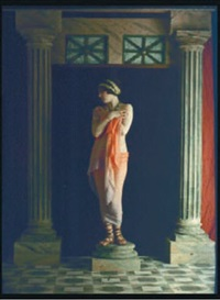 intérieur romain avec deux colonnes by edmond goldschmidt