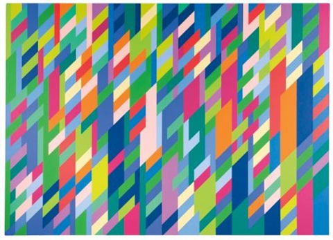 in attendance by bridget riley