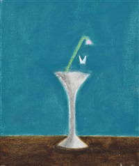 flower and butterfly by craigie aitchison