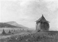 the hay stack, autumn by charles lanman