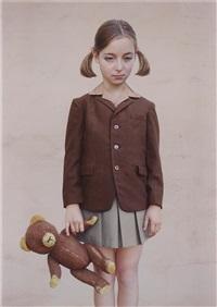 girl with a teddy bear by loretta lux