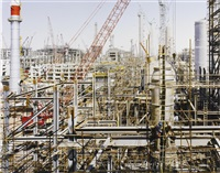 construction of reliance industries ltd. refinery #1, jamnagar, gujarat, india by robert polidori
