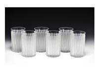 tumbler, six-pieces set by rené lalique