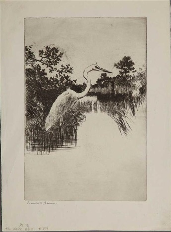 the white heron by frank weston benson