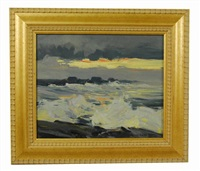 sunset, ogunquit, maine by charles curtis allen