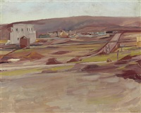 scene in palestine by david bomberg
