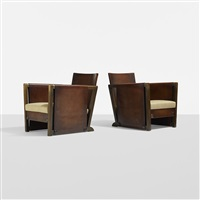 funkis armchairs model 35389 (pair) by axel einar hjorth