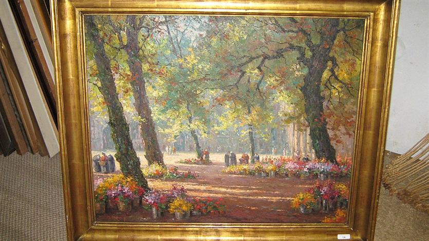 bloemenmarkt in het park by marcel lizen