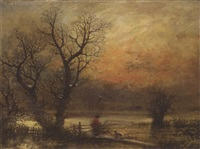 snowy landscape by william lerry