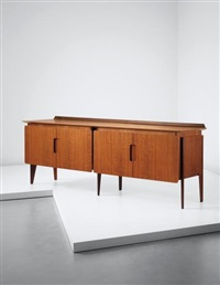 unique sideboard, designed for the rizzi family, cantù by ico parisi