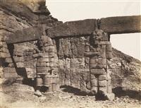 djerf-hocein (turzis) hemi-speos, colosse by félix teynard