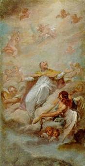 the apotheosis of saint peter by ramon bayeu y subias