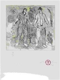 non come figli di genitori (from für joseph beuys) (2 works) by sandro chia