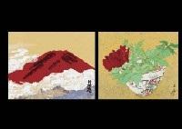 red mt fuji peony lrgr 2 works by yuki ogura