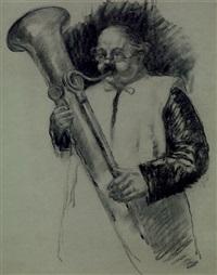 joueur d'ophicloïde by louis azema
