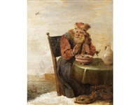 an allegory of winter by david teniers the younger