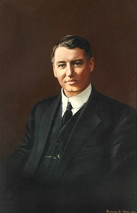 portrait of ed theodore premier of queensland and federal treasurer by florence m. hoey