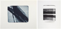 l 1976-22; l1976-19 (set of 2) by hans hartung