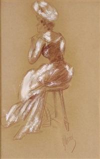 femme assise by jules chéret