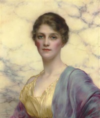 portrait of a beauty by william clarke wontner