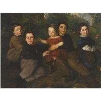 family portrait by nicolaos xydias typaldos