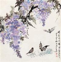 紫藤麻雀 by luo ming