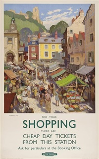 shopping, market day by jack merriott