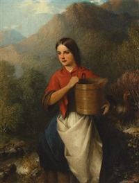 an irish girl/the forrester's daughter, killarney by samuel barry godbold