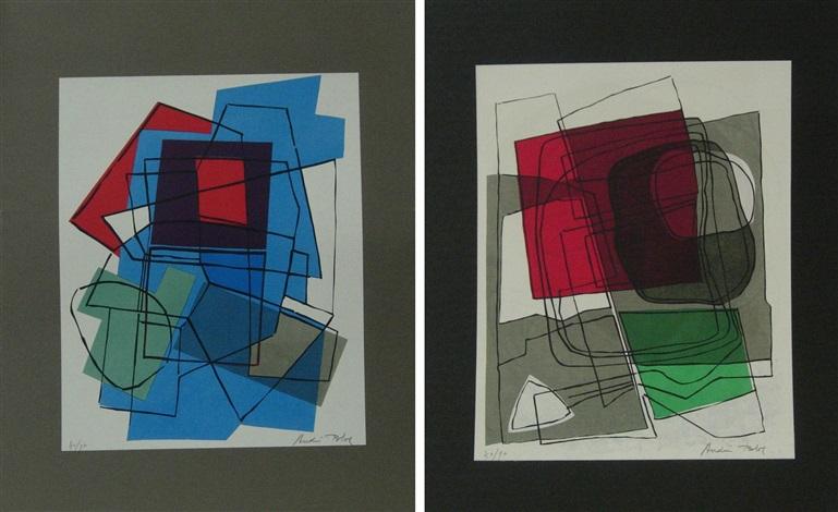poèmes sur soie portfolio of 6 by andré lucien albert bloc
