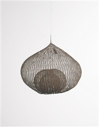 untitled s. 359 (hanging single-lobed three-layer continuous form within a form) by ruth asawa