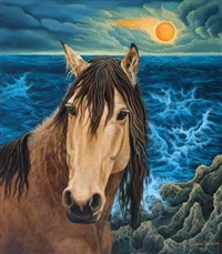 horse by the ocean by lucia hartini