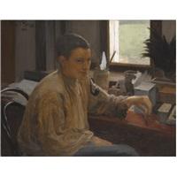 portrait of nadezdha repina by yuri il'ich repin