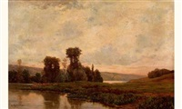 les bords de la seine à rangiport by charles-henri quinet