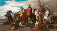 orientalische reiter bei der rast by otto von faber du faur