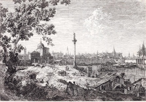 vue imaginaire de padoue by canaletto