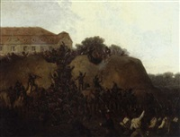 a military siege by a mansion by gustav otto müller