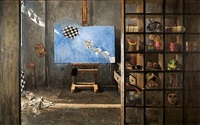 the artist's studio by vassilis solidakis