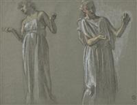 deux études de femmes pour calliope et polymnie (2 studies) by maurice denis