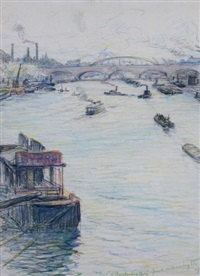pont d'austerlitz, paris by frank milton armington