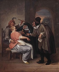 the proposition: figures in an interior by jan steen