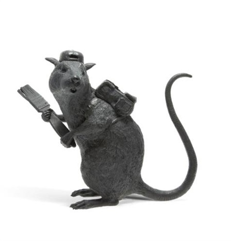 bronze rat by banksy