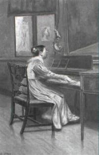 at the harpischord by frederick james