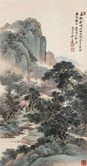 春寒料峭 (landscape) by qi dakui