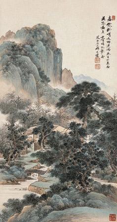 春寒料峭 landscape by qi dakui