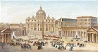 la sortie du pape sur la place saint pierre by biagio barzotti